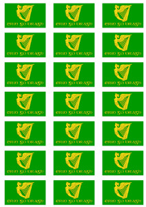Erin Go Bragh Stickers - 21 per sheet